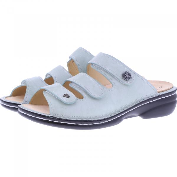 Finn Comfort / Menorca-Soft / Jade Weiß / Wechselfußbett / Art: 82564-253456 / Damen Pantoletten