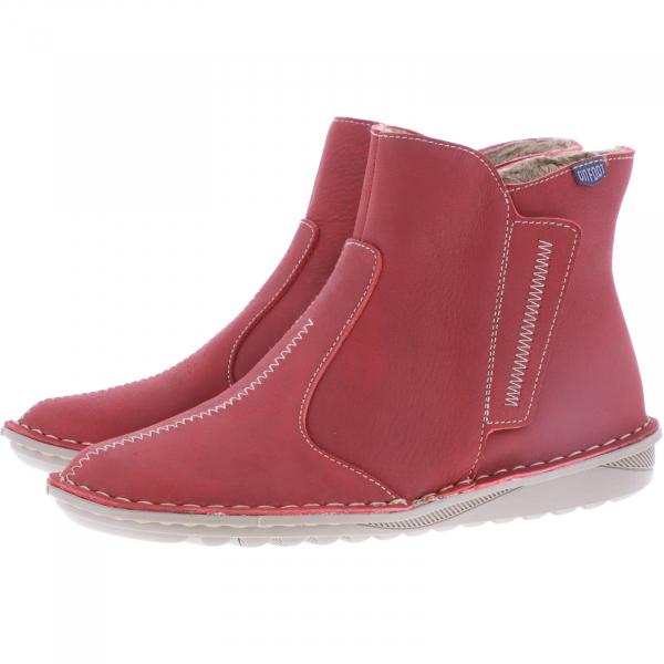 OnFoot / Modell: Ultra Flex High / Farbe: Rojo Rot Leder / Art.: 20802 / Damen Stiefeletten