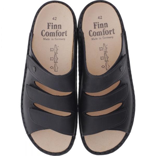 Finn Comfort / Korfu / Elefante Grau Leder / Wechselfußbett / Art: 01508-623371 / Herren Pantoletten