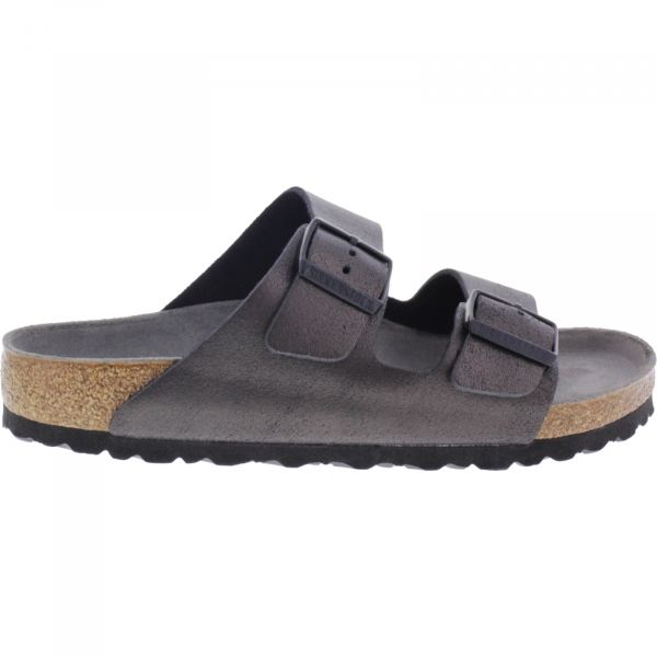 Birkenstock / Modell: Arizona / Washed Metallic Antique Black / Weite: Normal / Art: 1011291 / Damen