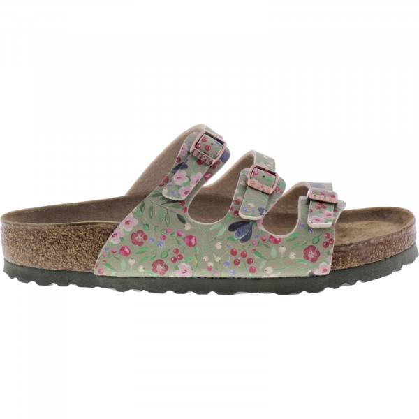 Birkenstock / Modell: Florida mit Weichbettung / Meadow Flowers Khaki / Weite: Normal / Art: 1012780