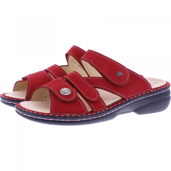 Finn Comfort / Ventura-Soft / Monzared Rot Nubuk / Wechselfußbett / Art: 82568-007351 / Damen Pantol