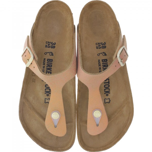Birkenstock / Modell: Gizeh / Washed Metallic Sea Copper/ Weite: Normal / Art: 1012909 / Zehensteg