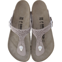 Birkenstock / Modell: Gizeh / Crafted Rivets Avario Grau Leder / Weite: Normal / Art: 1009758