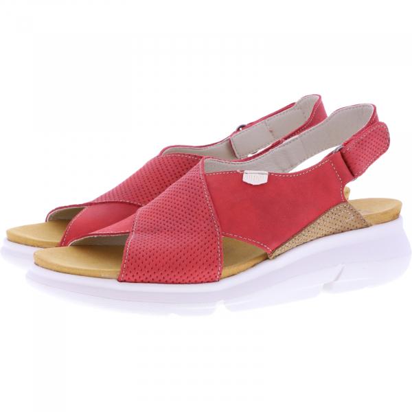OnFoot / Modell: Bora / Farbe: Rojo Rot Leder / Art.: 90107 / Damen Sandalen