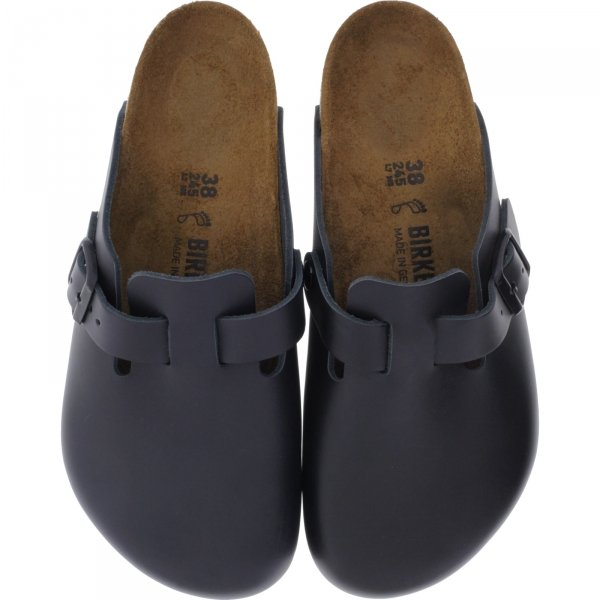 Birkenstock / Modell: Boston / Schwarz Leder / Weite: Normal / Art: 060191 / Unisex