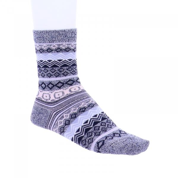 Birkenstock Damen Socken - Cotton Jacquard - Jeans Melange