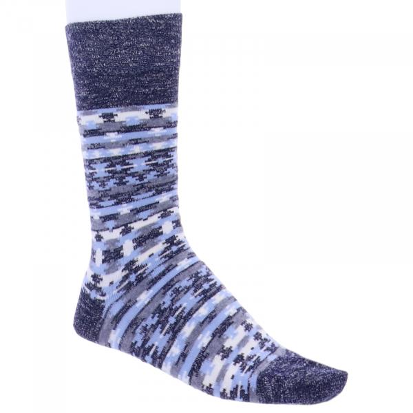 Birkenstock Herren Socken - Ethno Linen - Midnight Blau/Grau