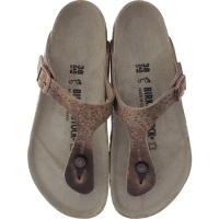 Birkenstock / Modell: Gizeh / Crafted Rivets Tabacco Braun Leder / Weite: Normal / Art: 1009760