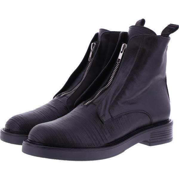 Le Bohémien / Modell: A109 / Farbe: Schwarz Leder / Made in Italy / Damen Stiefeletten