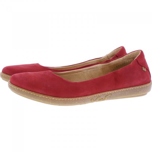El Naturalista / Modell: N5300 Coral / Farbe: Tibet Rot Leder / Damen Ballerinas