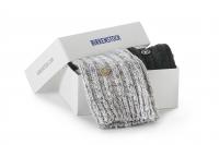 Birkenstock Damen Socken X-Mas Box Bling - Cotton Socken 2-Pack - Schwarz-Grau