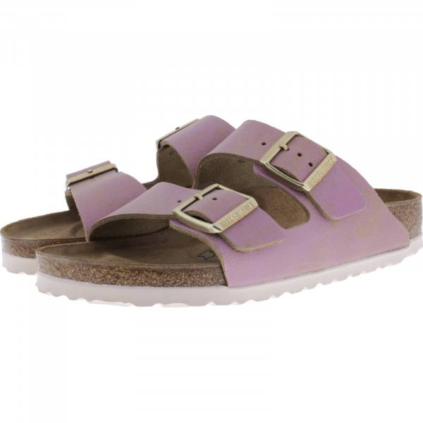 Birkenstock / Modell: Arizona / Washed Metallic Pink / Weite: Schmal / Art: 1012876 / Damen