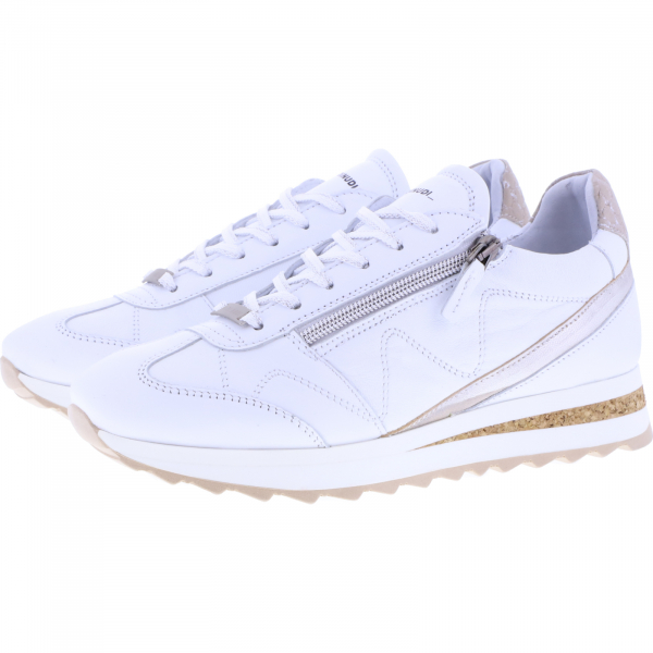 Piedi Nudi / Modell: H-Fit Sneaker / Farbe: Weiß Leder / Art.: 2487-0507 / Damen
