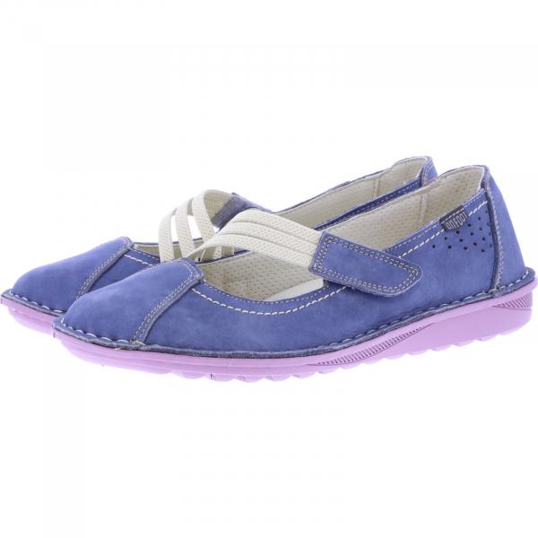 OnFoot / Modell: UltraFlex / Farbe: Jeans Blau Leder / Art.: 20500 / Damen Ballerinas