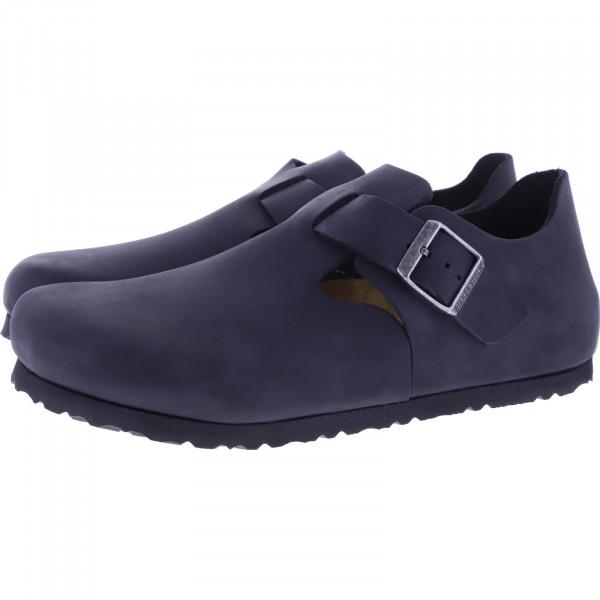 Birkenstock / Modell: London / Schwarz Nubukleder / Weite: Normal / Art: 166541 / Unisex Schuhe