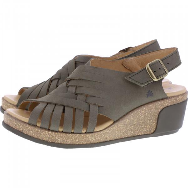 El Naturalista / Modell: N5018 Leaves / Farbe: Pleasent Khaki Leder / Damen Sandaletten