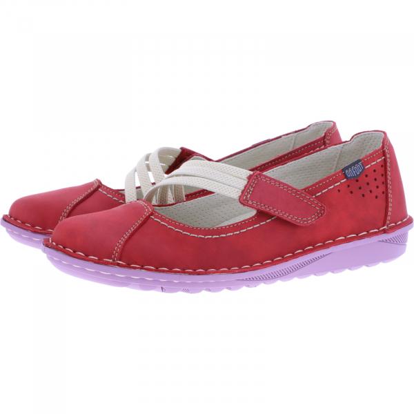 OnFoot / Modell: UltraFlex / Farbe: Rojo Rot Leder / Art.: 20500 / Damen Ballerinas
