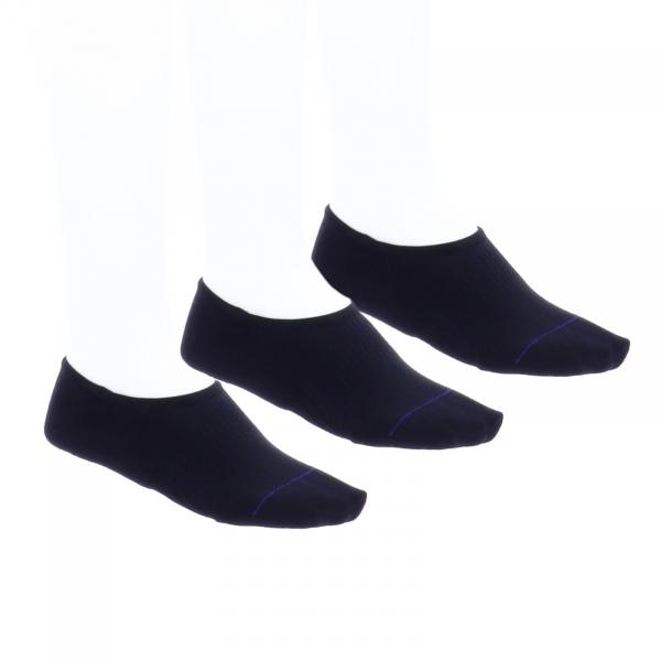 Birkenstock Damen Socken - Cotton Sole Invisible - 3er Pack - Schwarz - Birkenstock Füßlinge