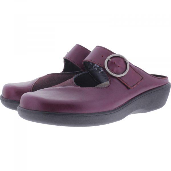 Berkemann / Modell: Robina / Bordeaux Leder-Stretch / Form: Arona / Art: 05052-218 / Damen Clogs