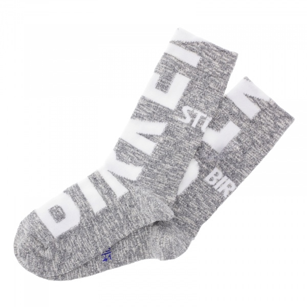 Birkenstock Herren Socken - Cotton Slub Logo - Grau-Weiß