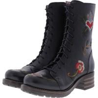 Brako / Modell: Military Traviata / Negro Flower Leder / Stiefel / Art: 8455 / Damen