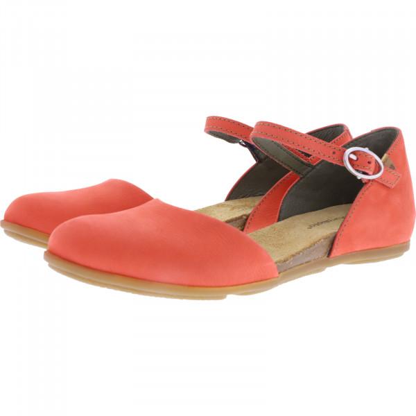 El Naturalista / Modell: ND54 Stella / Farbe: Pleasent Coral Rot Leder / Damen Ballerinas