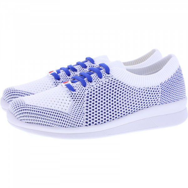 Berkemann Comfort Knit / Modell: Eila / Weiß-Blau / Form: Barcelona / Art: 05152-332 / Damen