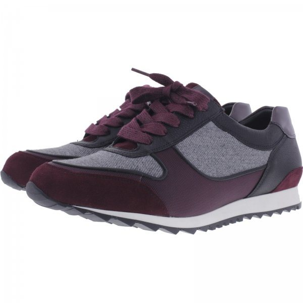 Hassia / Barcelona / Schwarz-Vino / Weite: H / Textil & Leder / Art: 2-301920-0142 / Damen Sneaker