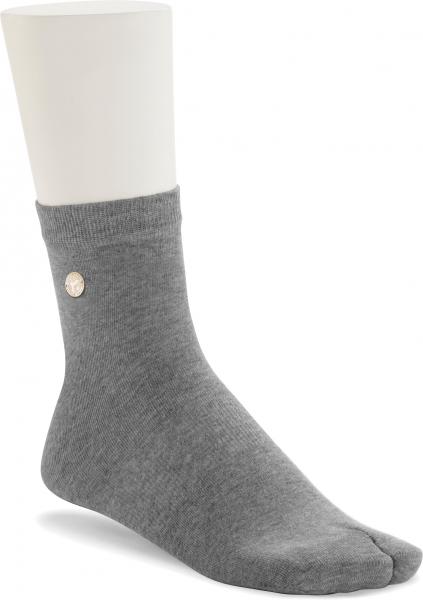 Birkenstock Damen Zehentrenner Socken - Cotton Sole Split - Grau Melange