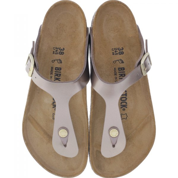 Birkenstock / Modell: Gizeh / Electric Metallic Taupe / Weite: Normal / Art: 1012983 / Damen
