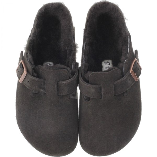 Birkenstock / Modell: Boston mit Lammfell  / Mocha Leder / Weite: Normal / Art: 1006408 / Clogs