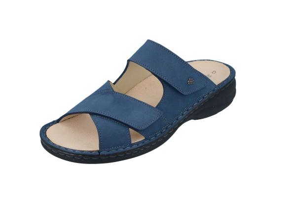 Finn Comfort / Melrose / Horizon Blau / Wechselfußbett / Art: 02622-390361 / Damen Pantoletten