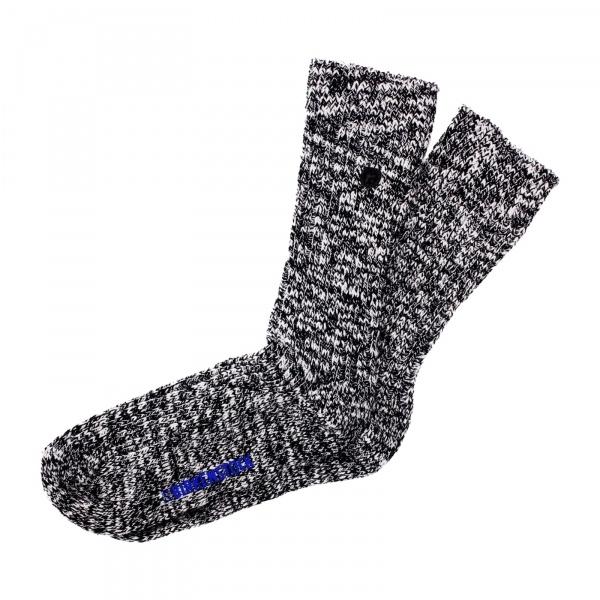 Birkenstock Herren Socken - Cotton Slub - Schwarz-Grau Meliert