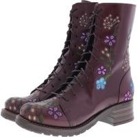 Brako / Modell: Military Pull / Burdeos Flower Leder / Stiefel / Art: 8403 / Damen Stiefel