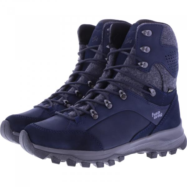 Hanwag / Modell: Banks Winter Lady GTX / Navy/Asphalt / Leder / Gore-Tex / Damen Wanderstiefel