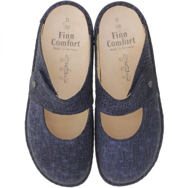 Finn Comfort / Stanford / Botte Blau / Wechselfußbett / Art: 02552-521319 / Damen Clogs