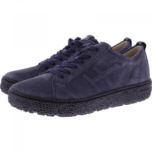 Hartjes / Modell: Phil / Asche-Dunkelblau Leder / Weite: H / 1621423-7347 / Damen Sneakers
