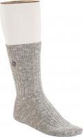 Birkenstock Herren Socken - Cotton Slub - Grau-Weiß Meliert 42-44 EU