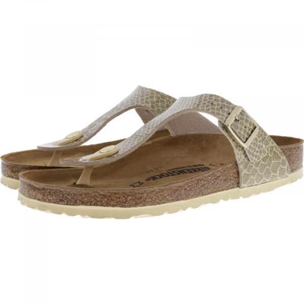 Birkenstock / Modell: Gizeh / Magic Snake Gold / Weite: Normal / Art: 1011770