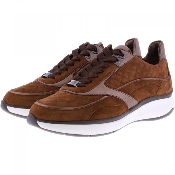 Hassia / Monaco / Nut-Cognac Braun Leder / Wechselfußbett / Art: 2-301132-2400 / Damen Sneakers