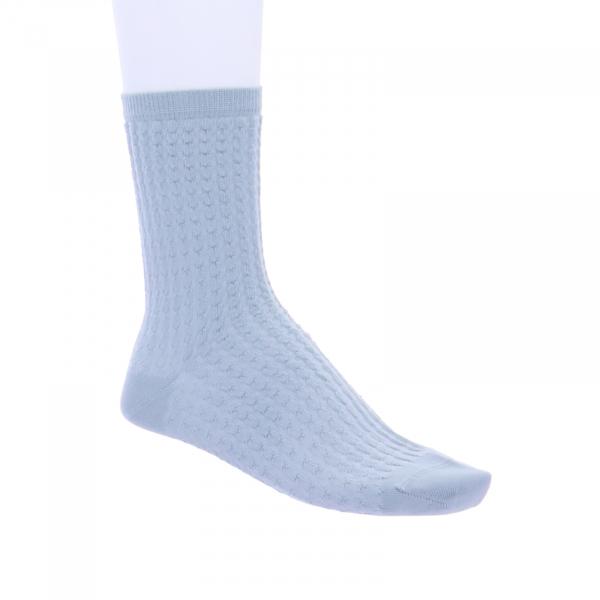 Birkenstock Damen Socken - Structured Dot - Dusty Teal/Hellblau