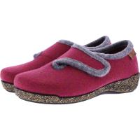 Hartjes / Modell: Feel Good / Fuchsia-Grau Wolle / Weite: G / 5220876-1113 / Damen Hausschuhe